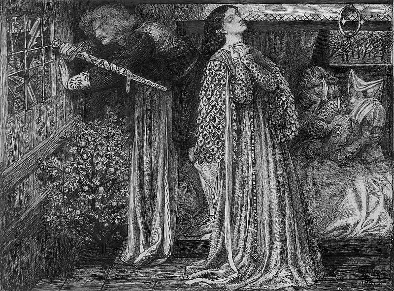 Rossetti Sir Launcelot in the Queen-s Chamber. Dante Gabriel Rossetti