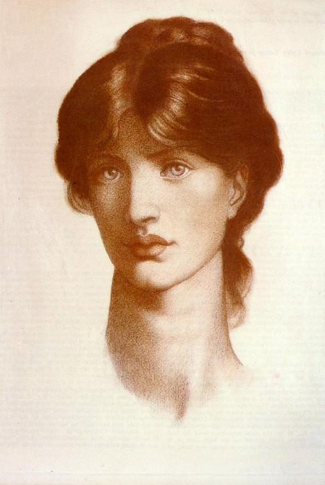 Rossetti Dante Gabriel Study For A Vision Of Fiammetta. Dante Gabriel Rossetti
