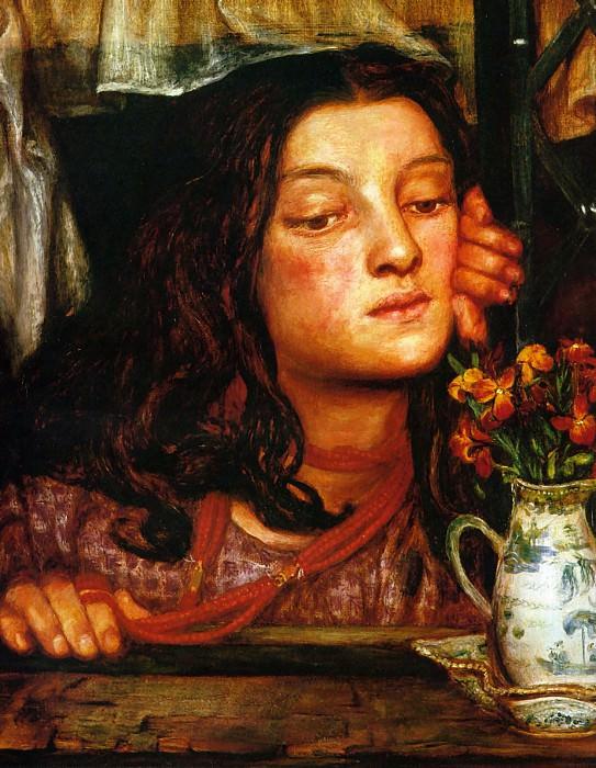 Girl at a Lattice. Dante Gabriel Rossetti