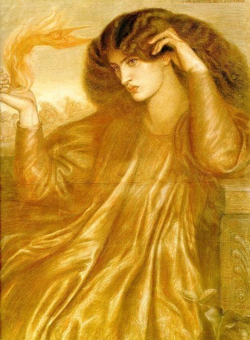 La Donna della Fiamma. Dante Gabriel Rossetti