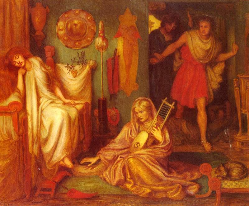 Rossetti Dante Gabriel The Return Of Tibullus To Delia. Dante Gabriel Rossetti