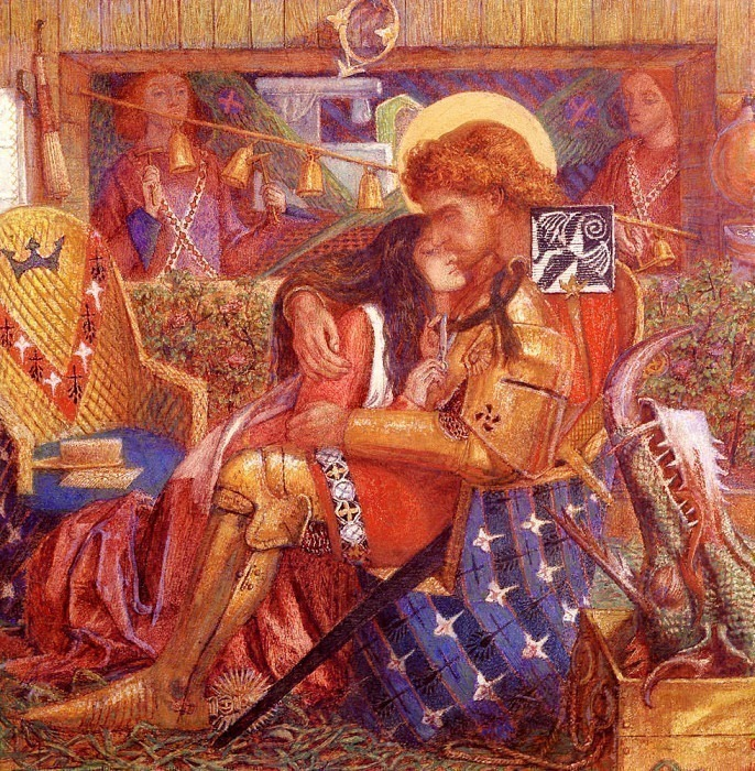 Rossetti Dante Gabriel The wedding Of Saint George And The Princess Sabra. Dante Gabriel Rossetti