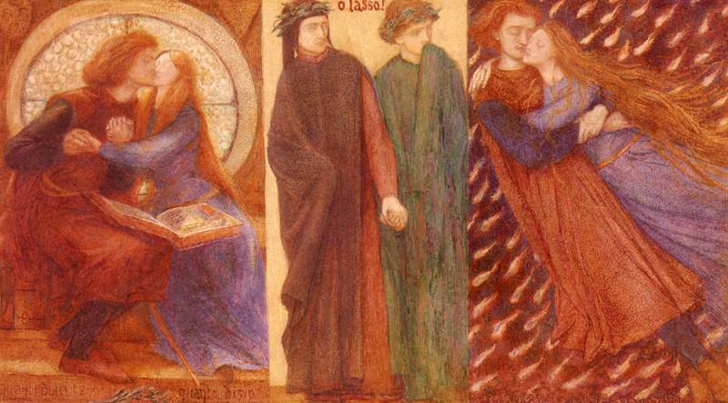 Rossetti Dante Gabriel Paolo And Francesca Da Rimini. Dante Gabriel Rossetti