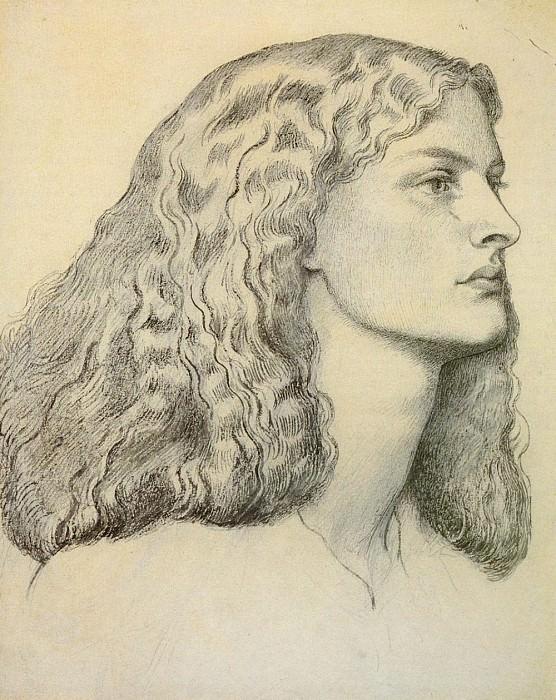 Rossetti Dante Portrait Of Annie Miller. Dante Gabriel Rossetti