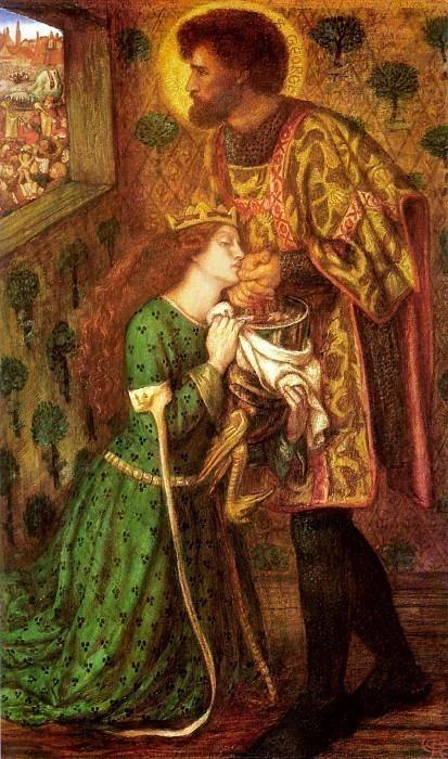 Saint George and the Princess Sabra. Dante Gabriel Rossetti