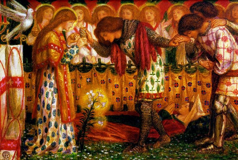 Sir Galahad. Dante Gabriel Rossetti