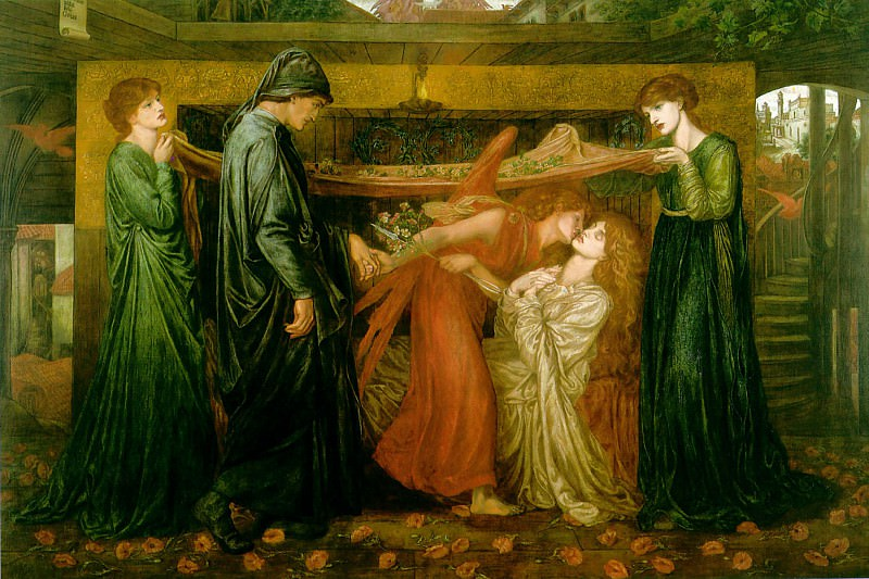 Dantes Dream at the Time of the Death of Beatrice. Dante Gabriel Rossetti