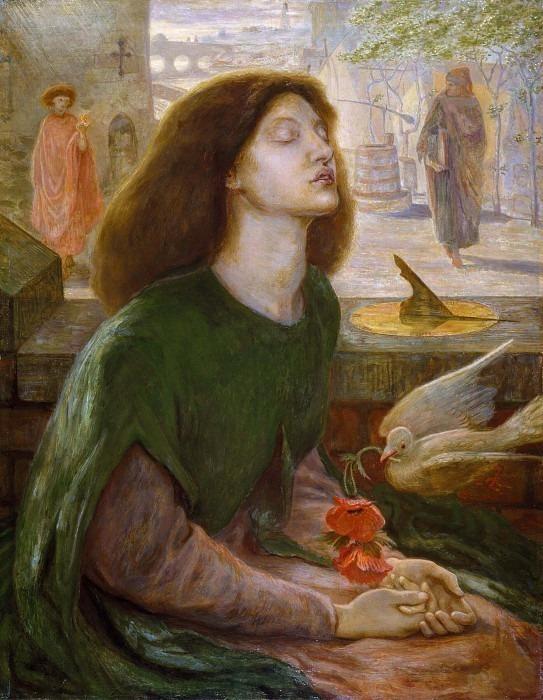 Beata Beatrix. Dante Gabriel Rossetti