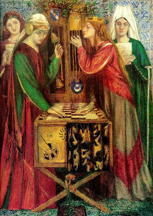 The Blue Closet. Dante Gabriel Rossetti