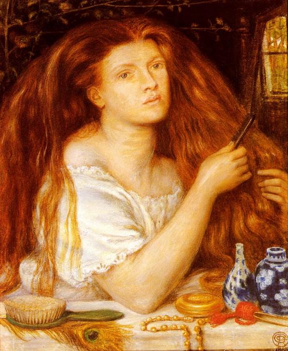 Rossetti Dante Gabriel Woman Combing Her Hair. Dante Gabriel Rossetti