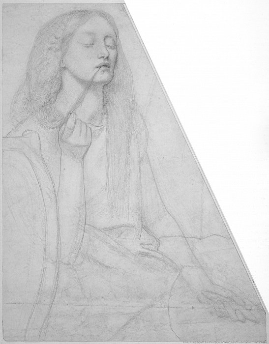 Rossetti Study for Delia. Данте Габриэль Россетти