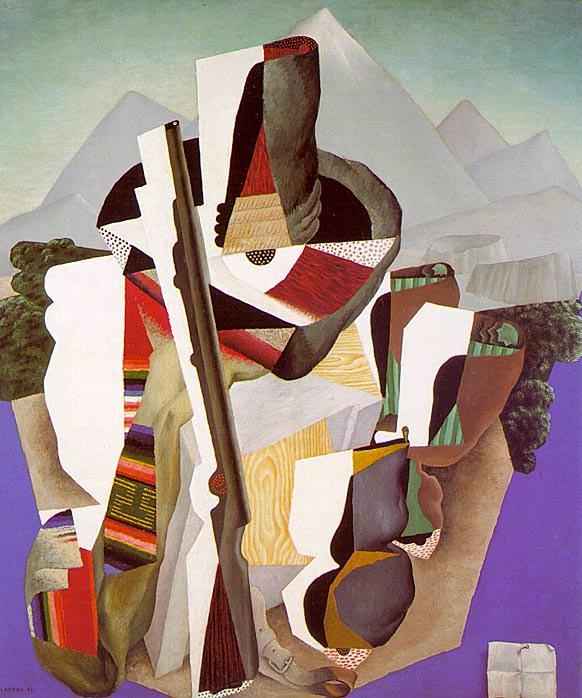 1915 Zapatista Landscape- The Guerrilla (Paisaje zapatista- El guerrillero). Diego Rivera