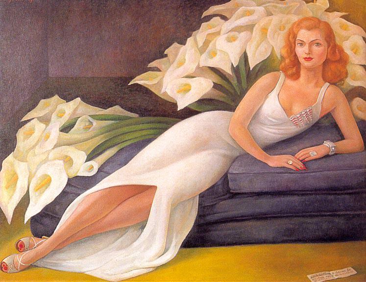 1943 Portrait of Natasha Zakolkowa Gelman (Retrato de Natasha Zakolkowa Gelman). Diego Rivera