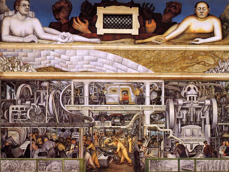 Rivera, Diego - Detroit Industry 1932-3 (end. Diego Rivera