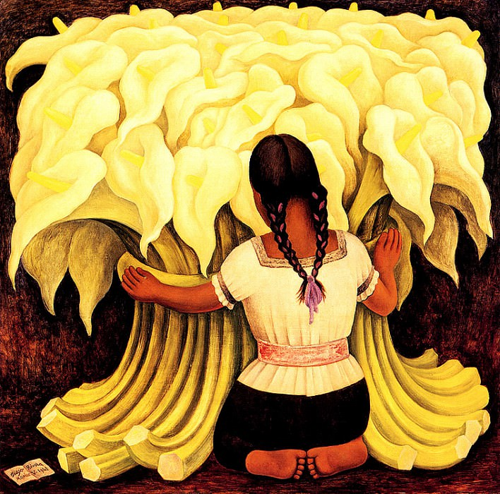 bs-flo- Diego Rivera- The Flower Vendor. Диего Ривера
