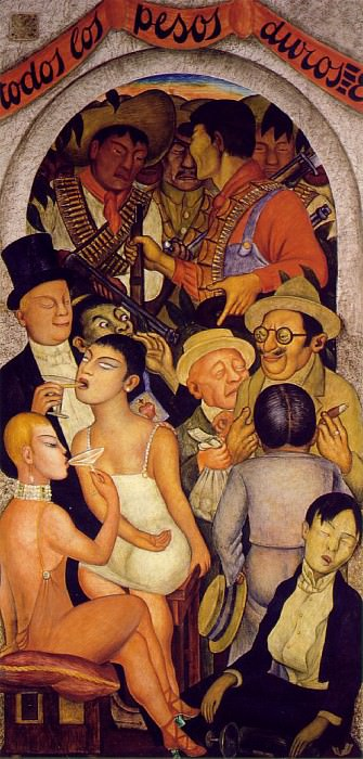 Night of the Rich. Diego Rivera