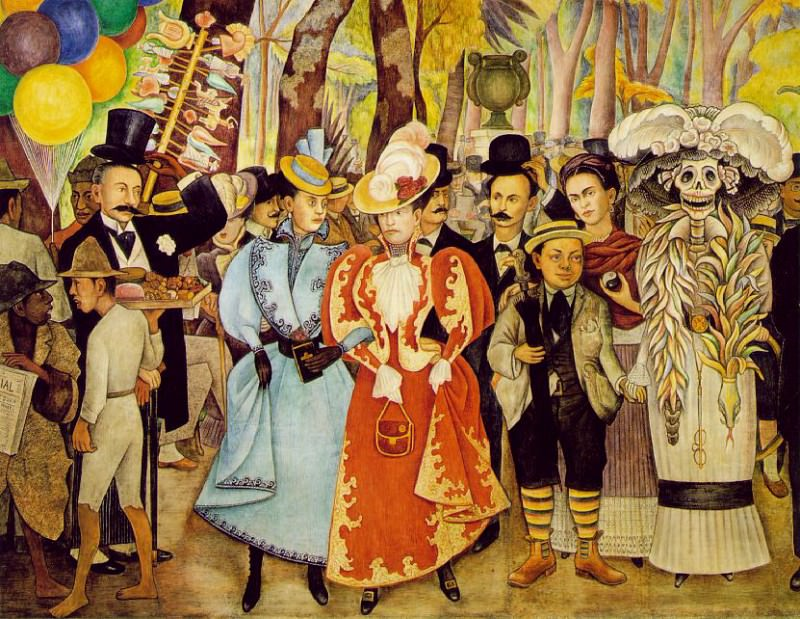 1948 A Dream of a Sunday Afternoon in Alameda Park detail. Diego Rivera
