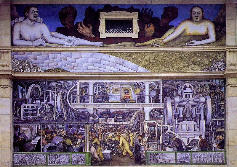 1933 Detroit Industry, South Wall. Diego Rivera