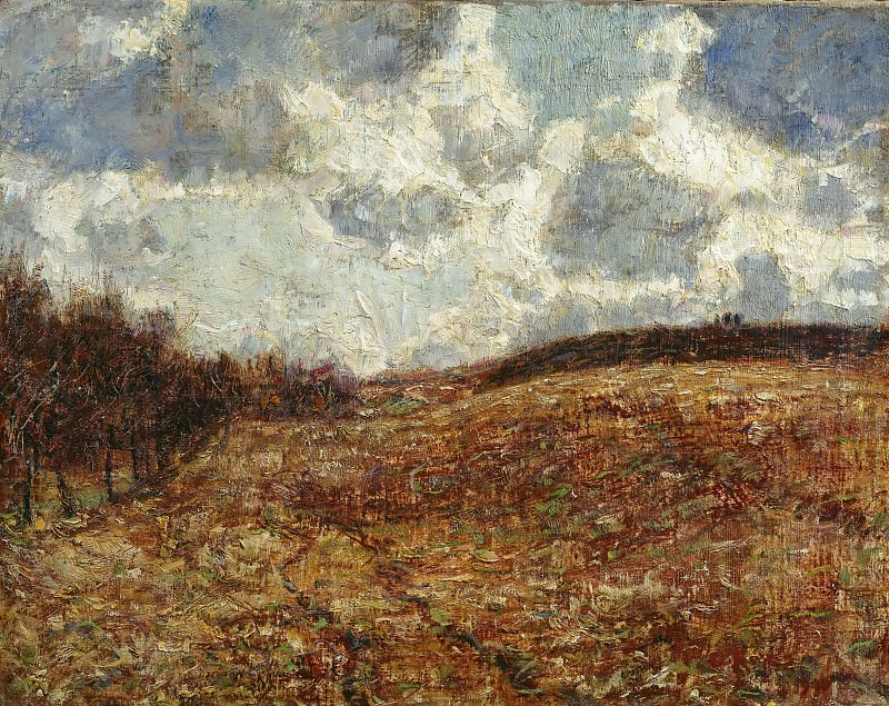 Холмистый пейзаж поздней осенью. Кристиан Рольфс