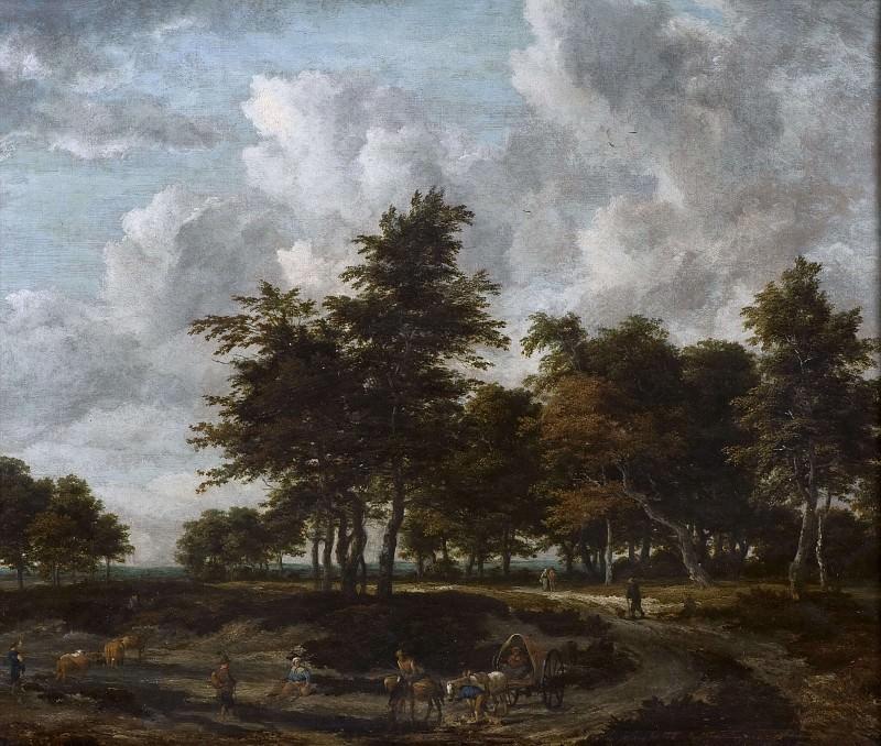 Road through a Grove. Jacob Van Ruisdael