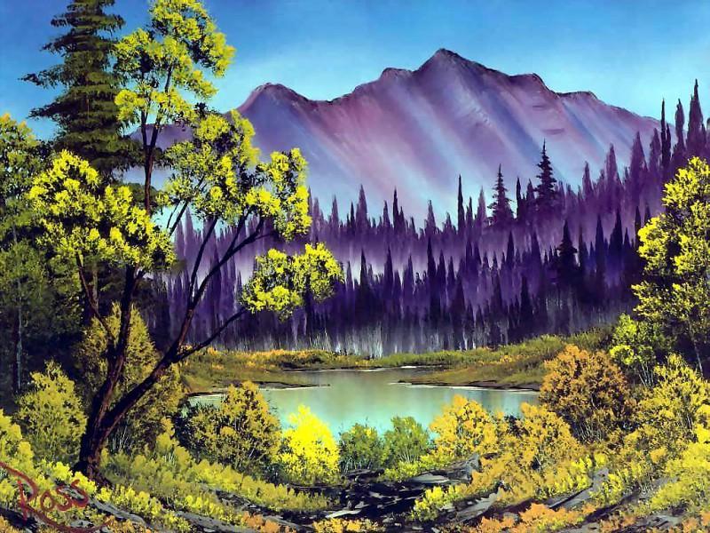 bob ross csg012 hidden lake. Bob Ross