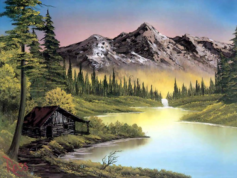 bob ross csg001 mountain retreat. Bob Ross