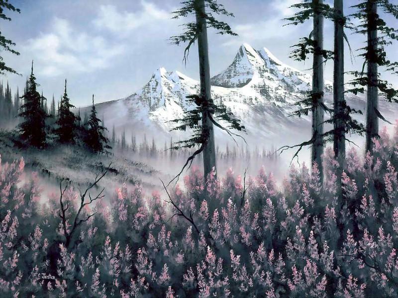 bob ross csg016 mountain blossoms dana jester. Bob Ross