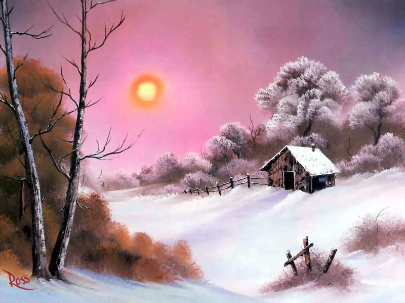 bob ross csg041 warm winter day. Bob Ross