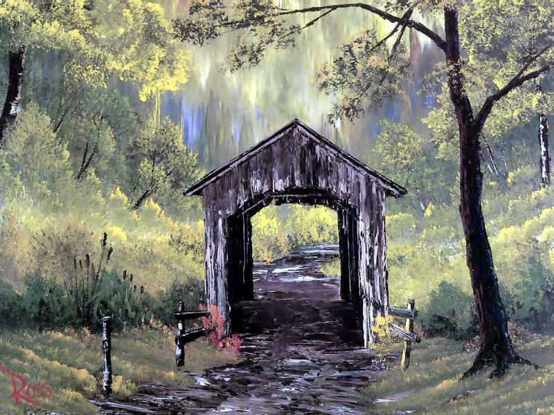 bob ross csg006 covered bridge. Bob Ross