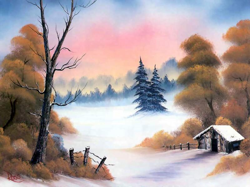 bob ross csg045 winter hideaway. Bob Ross
