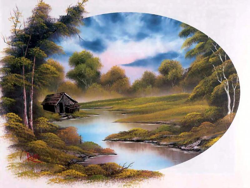 bob ross csg040 lakeside cabin. Bob Ross
