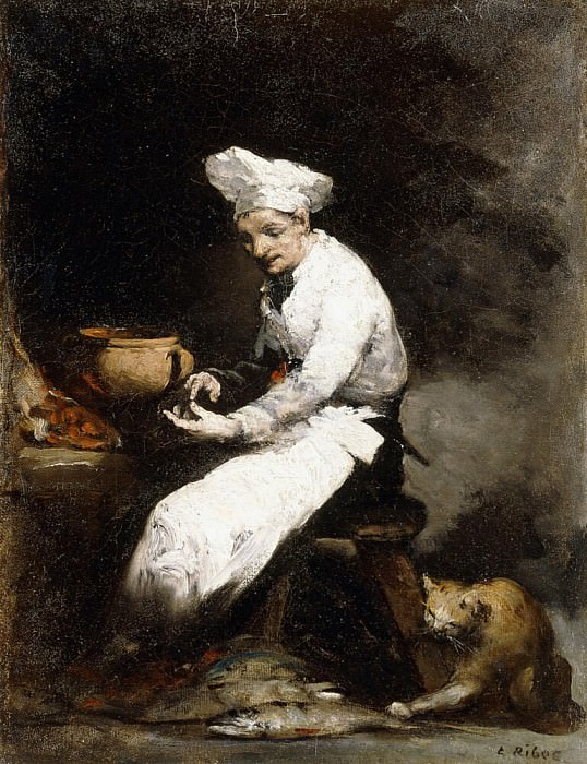 The Cook and the Cat. Augustine Théodule Ribot