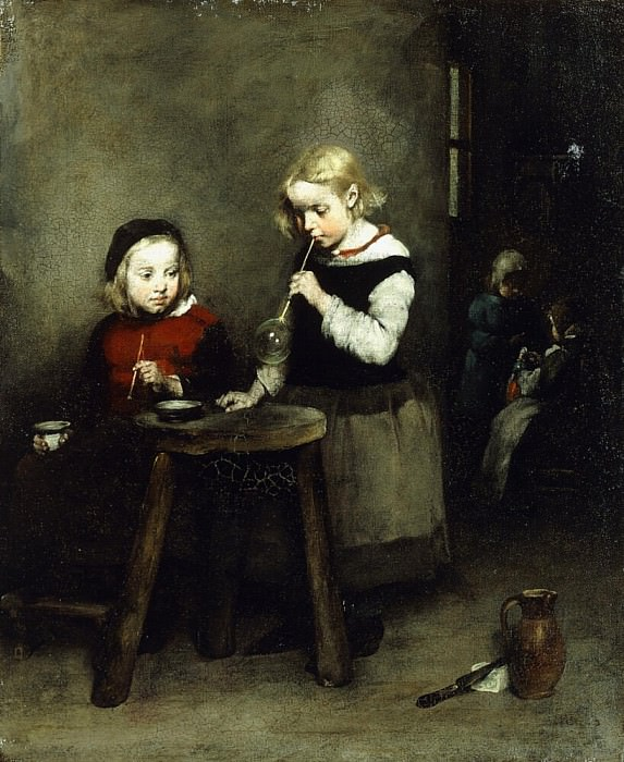 Blowing Bubbles. Augustine Théodule Ribot