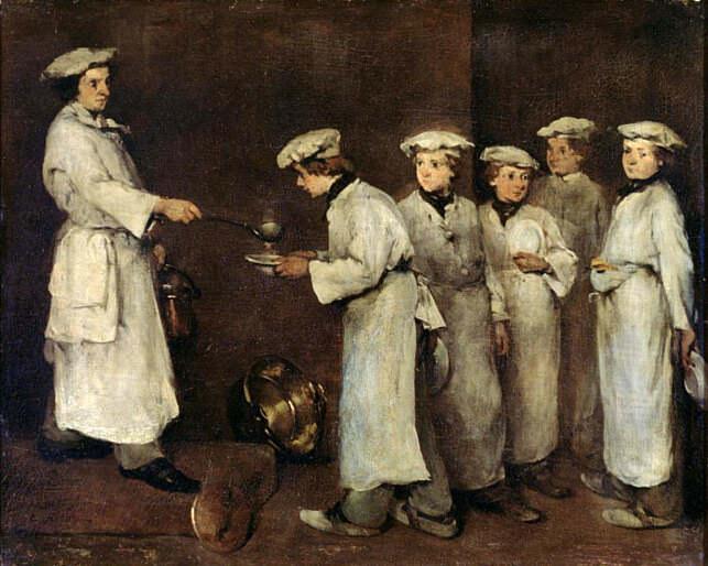 Kitchen Scene. Augustine Théodule Ribot
