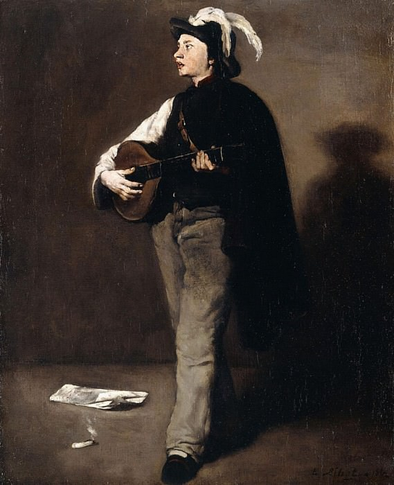 The Mandoline Player. Augustine Théodule Ribot