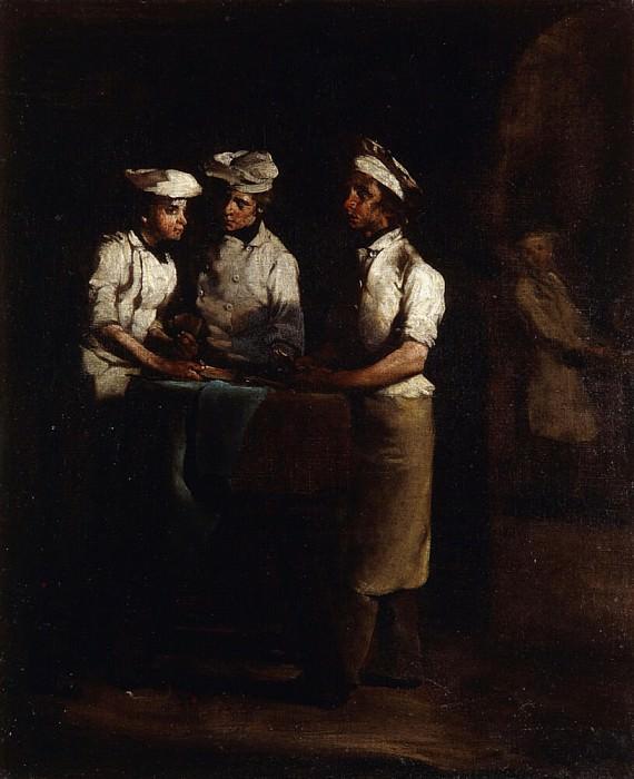The Three Cooks; Les Trois Cuisiniers. Augustine Théodule Ribot