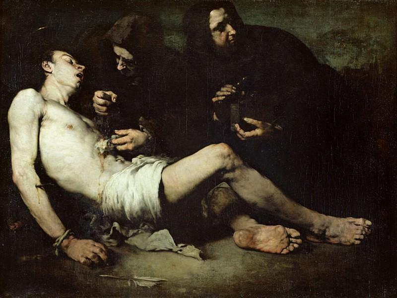 St Sebastian, martyred. Augustine Théodule Ribot