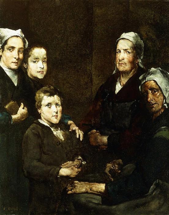 The Breton Family; La Famille Bretonne. Augustine Théodule Ribot