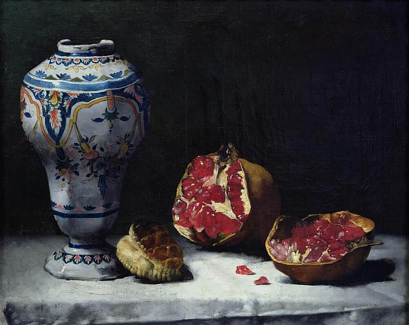 Still Life with a Pomegranate. Augustine Théodule Ribot