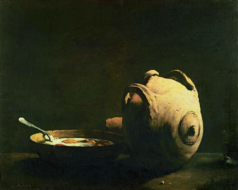 Still life with eggs on a plate. Augustine Théodule Ribot