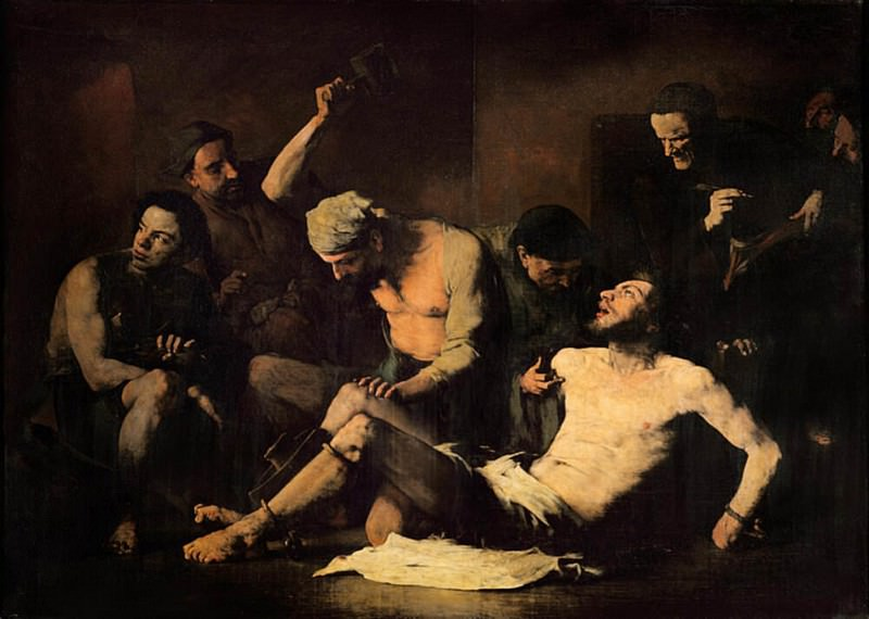 The Torture of Alonso Cano (1601-1667). Augustine Théodule Ribot