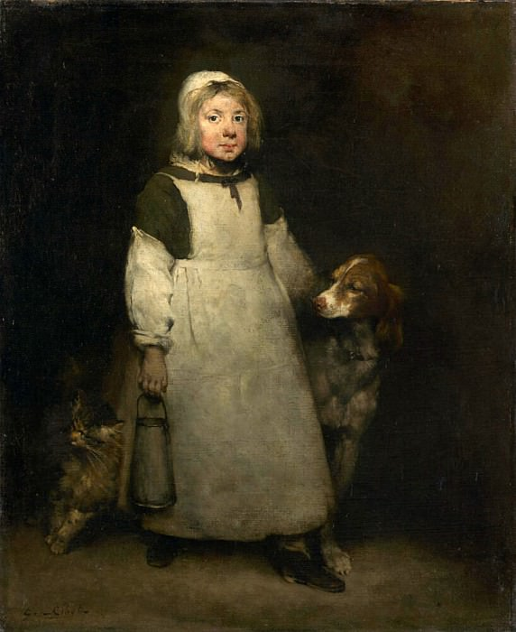 The Little Milkmaid. Augustine Théodule Ribot