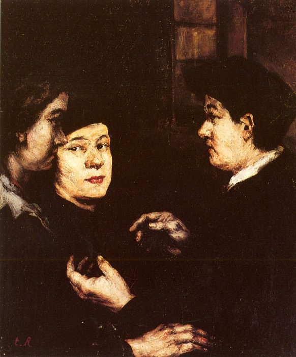 Ribot Theodule Augustin The Conversation. Augustine Théodule Ribot
