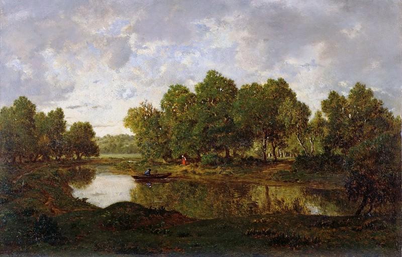 Landscape near Barbizon. Pierre Etienne Theodore Rousseau