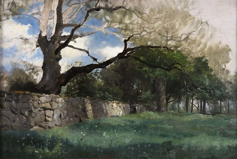 Landscape at Torsebro, near Kristianstad. Gustaf Rydberg