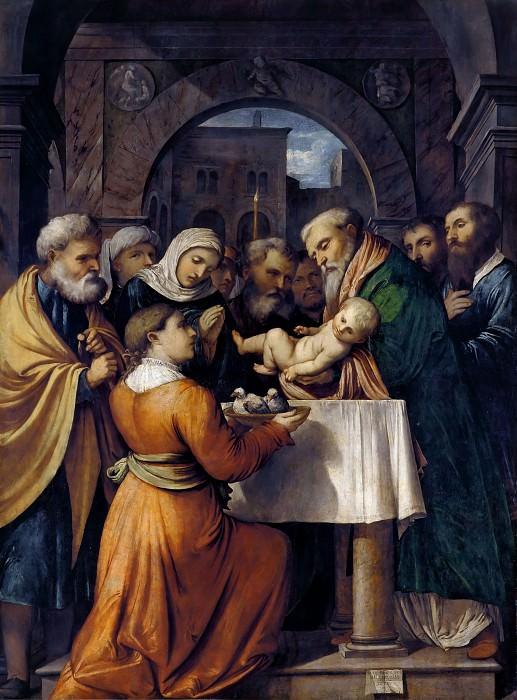 Принесение во Храм (Сретение Господне). Романино (Джироламо Романи)