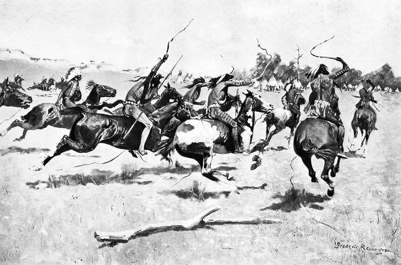 Fr 008 The Pony War Dance FredericRemington sqs. Frederick Remington