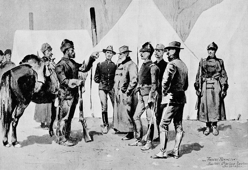 Fr 046 General Carr Receiving the Report of a Scout FredericRemington sqs. Frederick Remington