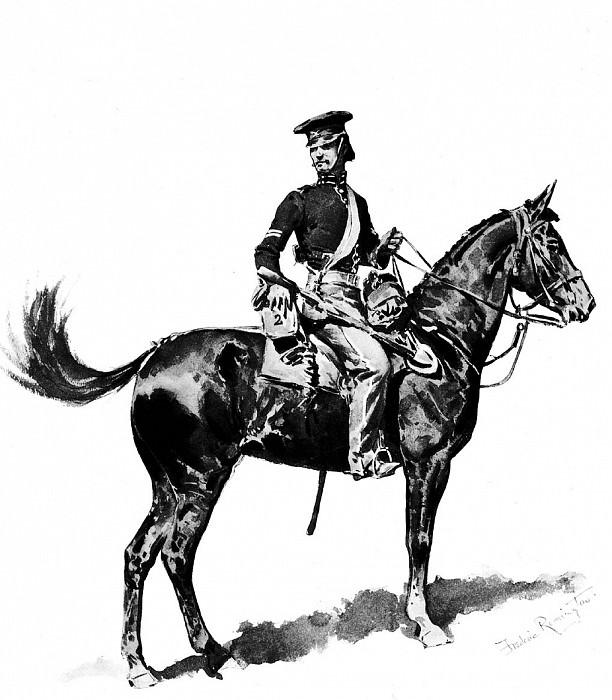 Fr 023 U.S.Dragoon,1847 FredericRemington sqs. Frederick Remington
