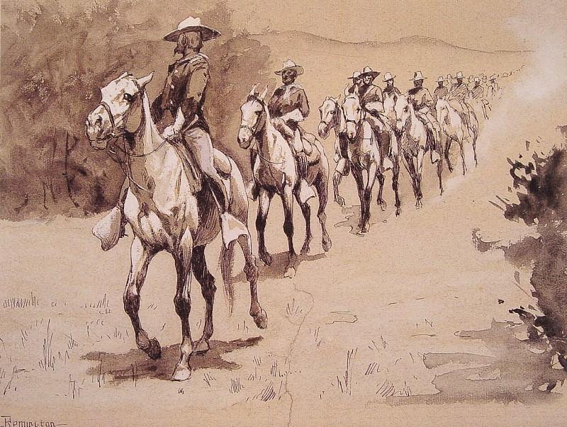 In the Desert. Фредерик Ремингтон